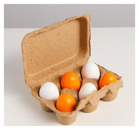 Детский игровой набор «Яйца» 16,2×11×5 см