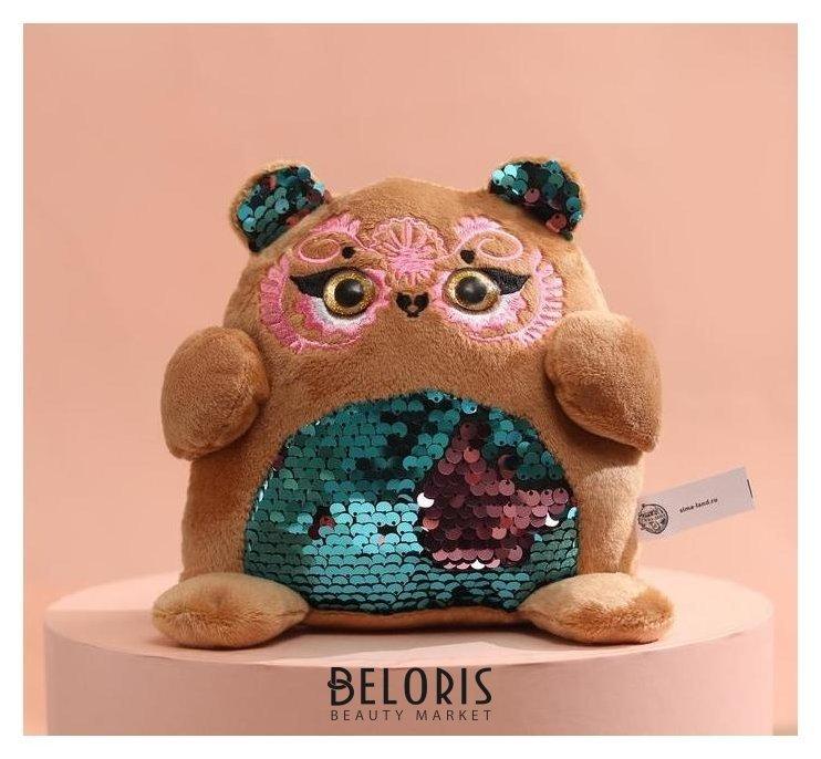 Мягкая игрушка с пайетками «Мишка» КНР Игрушки