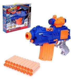 Автоматический бластер «Пулемёт», стреляет мягкими пулями, работает от батареек