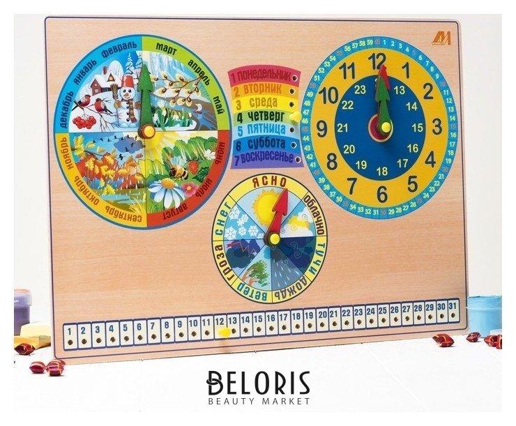 Развивающая доска «Календарь природы. часы» Динни