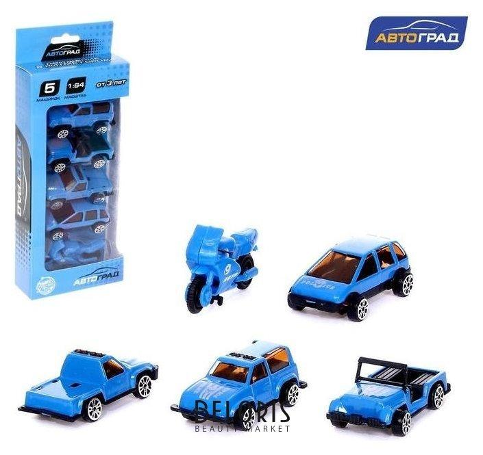 Набор металлических машин «Полиция», 5 штук Автоград