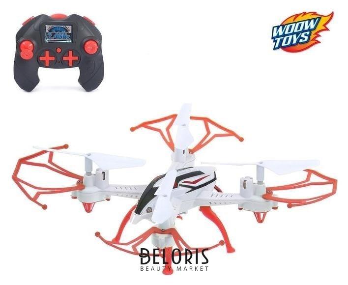 Квадрокоптер радиоуправляемый Skydrone, работает от аккумулятора, цвет красный Автоград
