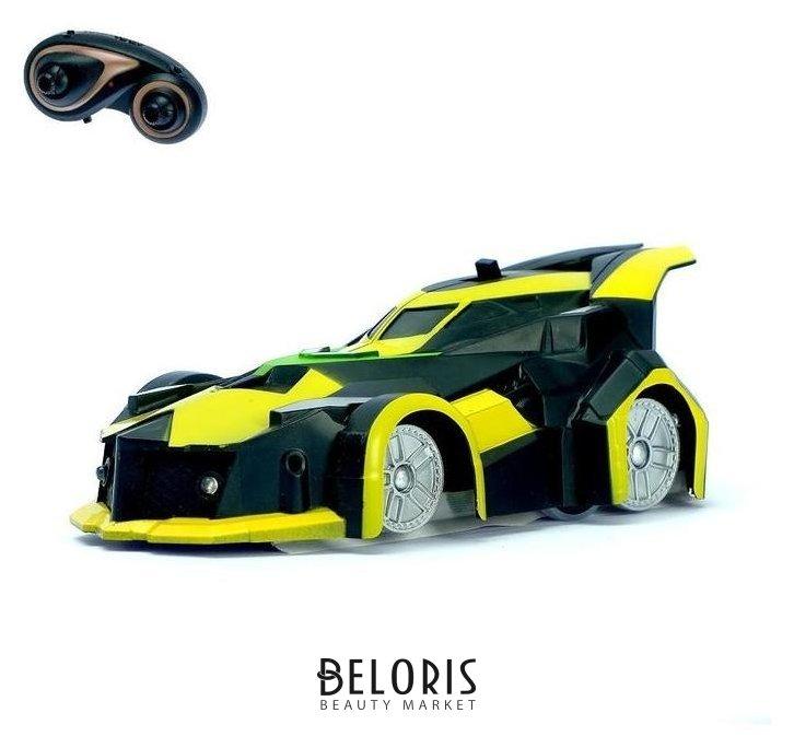 Антигравитационная машинка «Спорткар», радиоуправление, аккумулятор, ездит по стенам, свет, цвет жёлтый NNB