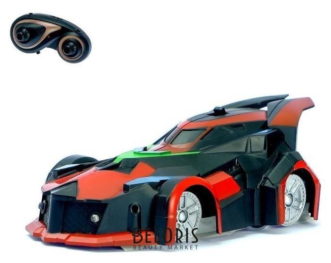 Антигравитационная машинка «Спорткар», радиоуправление, аккумулятор, ездит по стенам, свет, цвет красный NNB