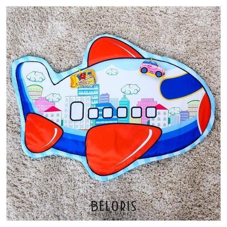 Развивающий коврик детский «Транспорт», 2 игрушки, виды NNB