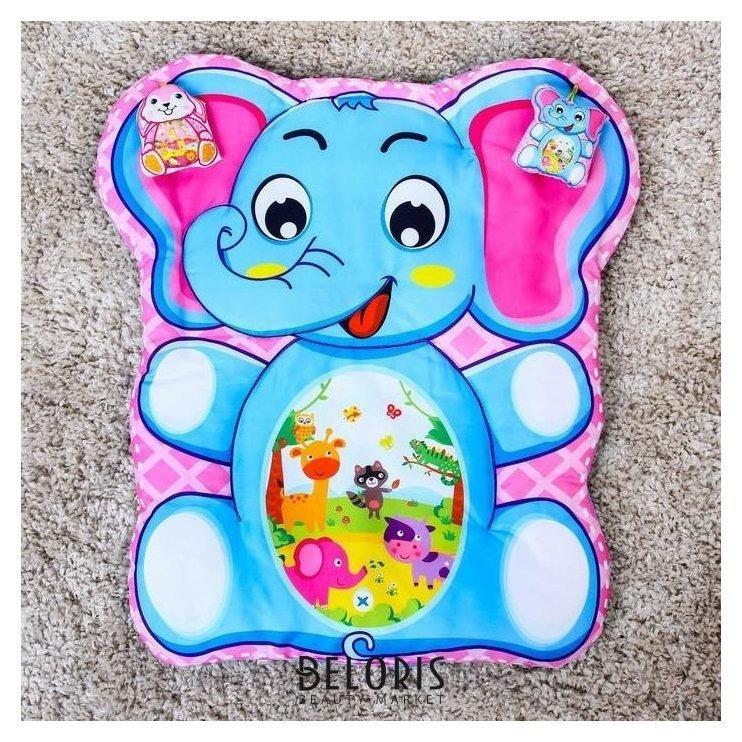 Развивающий коврик детский «Малыши», 2 игрушки, виды NNB