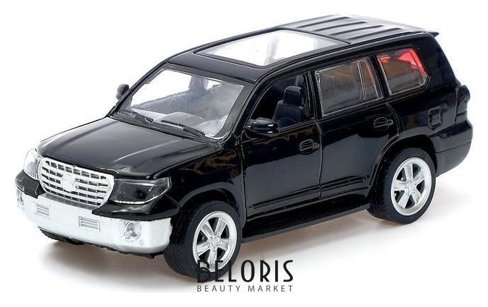 Машина металлическая Toyota Land Cruiser, открываются двери, багажник, инерция, цвет черный NNB