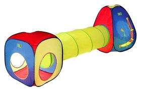 Игровая палатка «Цветные фигуры» с туннелем