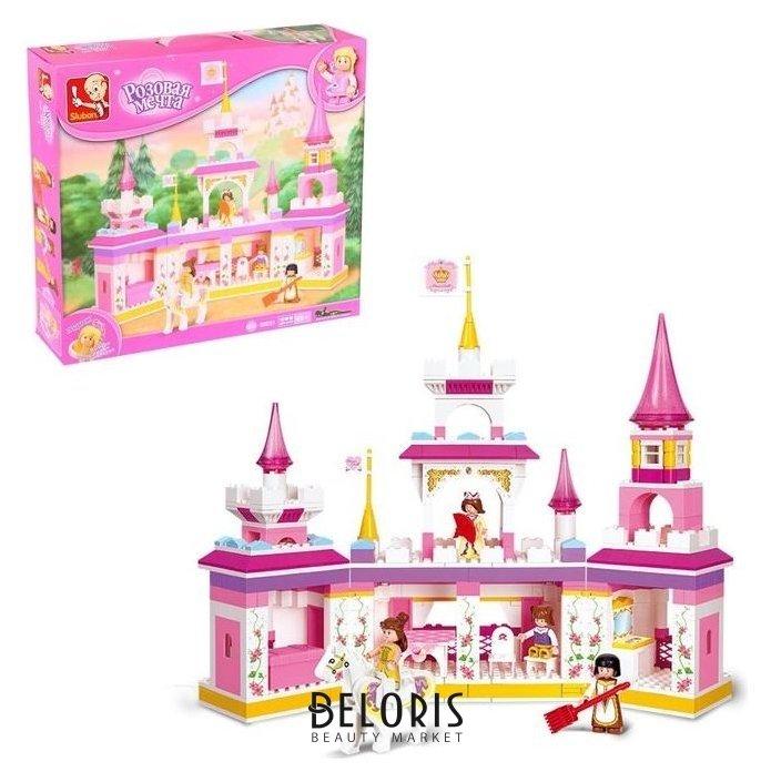 Конструктор «Розовая мечта: замок», 385 деталей Sluban