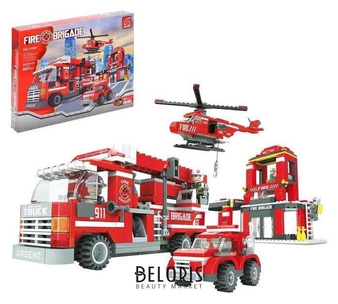 Конструктор пожарная бригада «Огнеборцы», 697 деталей Ausini