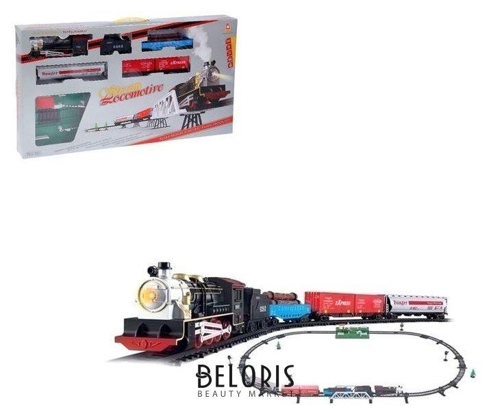 Железная дорога «Грузовой поезд», длина пути 387 см, световые и звуковые эффекты, работает от батареек NNB