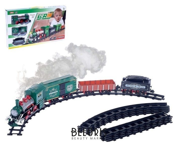 Железная дорога «Классик», со световыми, звуковыми и дымовыми эффектами, протяжённость пути 2,88 м NNB