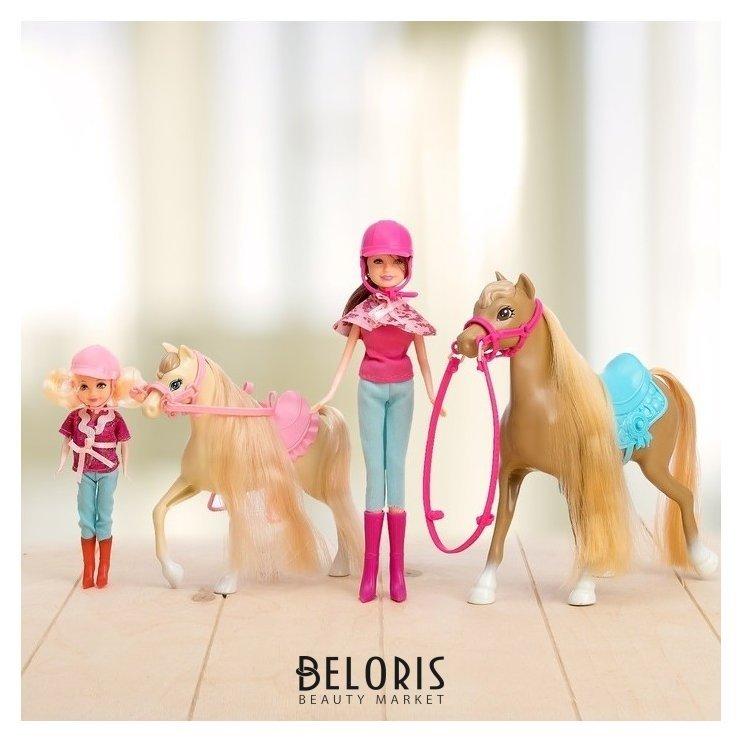 Набор игровой «Конная прогулка»: 2 куклы и 2 лошадки NNB