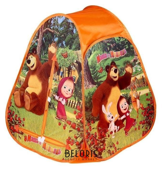 Детская палатка «Маша и медведь» в сумке Играем вместе