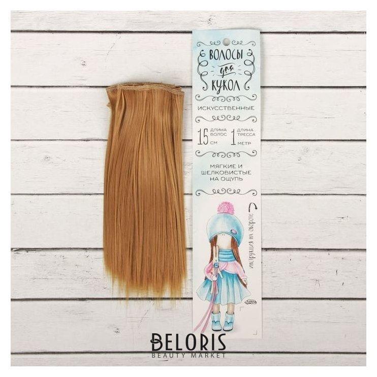 Волосы - тресс для кукол «Прямые» длина волос: 15 см, ширина: 100 см, цвет № 26 Школа талантов