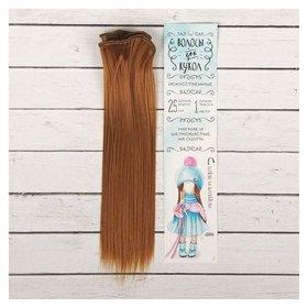 Волосы - тресс для кукол «Прямые» длина волос: 25 см, ширина:100 см, цвет № 27А