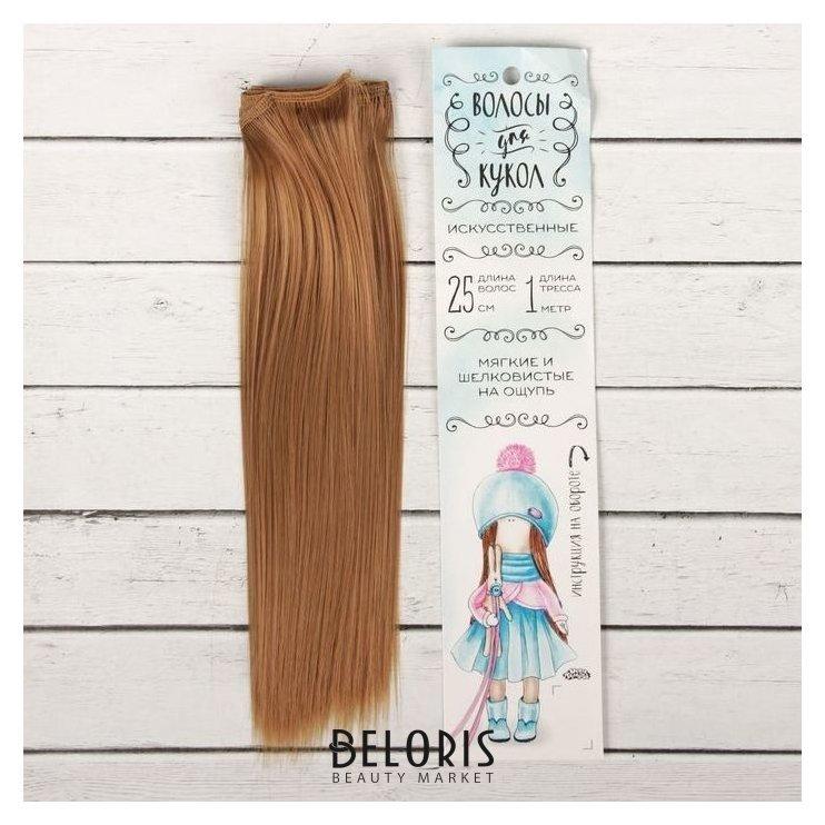 Волосы - тресс для кукол «Прямые» длина волос: 25 см, ширина: 100 см, цвет № 28 Школа талантов