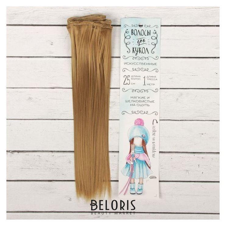 Волосы - тресс для кукол «Прямые» длина волос: 25 см, ширина:100 см, цвет № 22Т Школа талантов