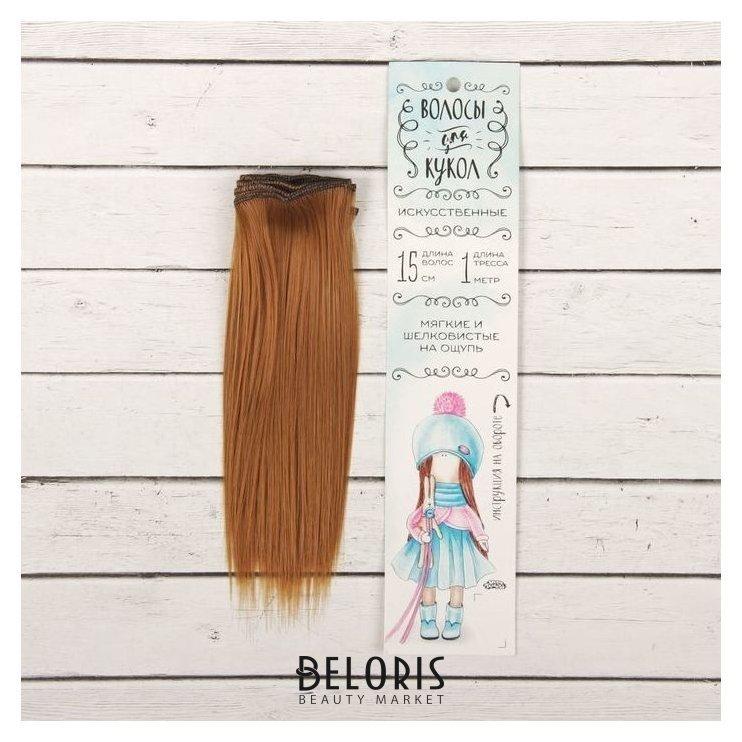 Волосы - тресс для кукол «Прямые» длина волос: 15 см, ширина:100 см, цвет № 27В Школа талантов