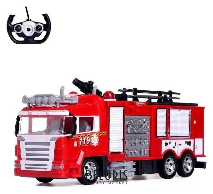 Машина радиоуправляемая «Пожарная охрана», стреляет водой, световые эффекты, работает от аккумулятора NNB