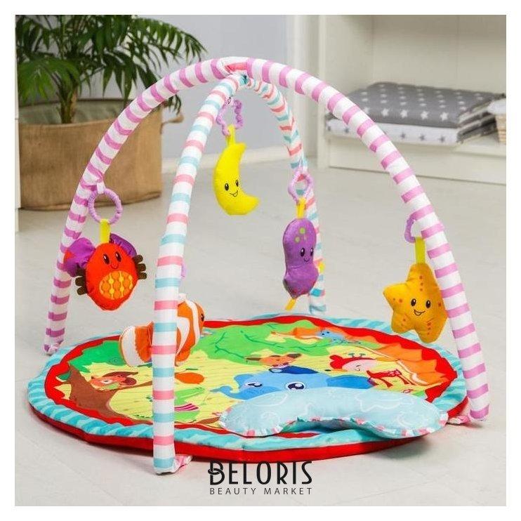 Развивающий коврик с дугами «Слоник и друзья», 5 игрушек, с подушечкой NNB