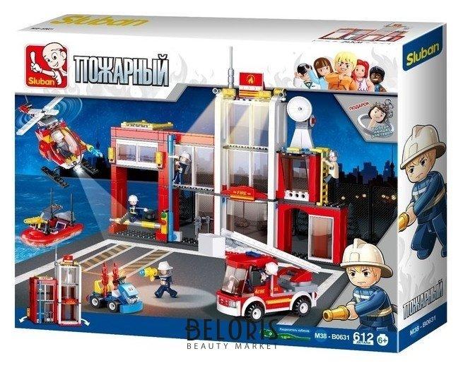 Конструктор «Пожарная станция», 612 деталей Sluban