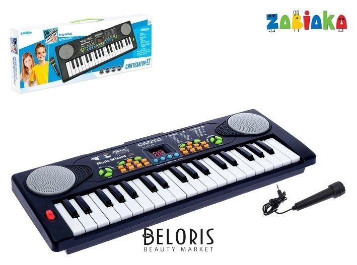 Синтезатор «Весёлые мелодии» с микрофоном, 37 клавиш Zabiaka