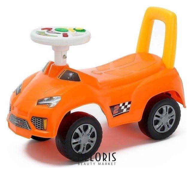Толокар «Ламбо», световые и звуковые эффекты, цвет оранжевый Qunxing Toys