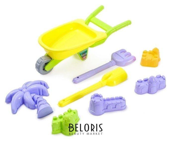 Песочный набор «Тачка», с формочками, граблями, лопаткой NNB