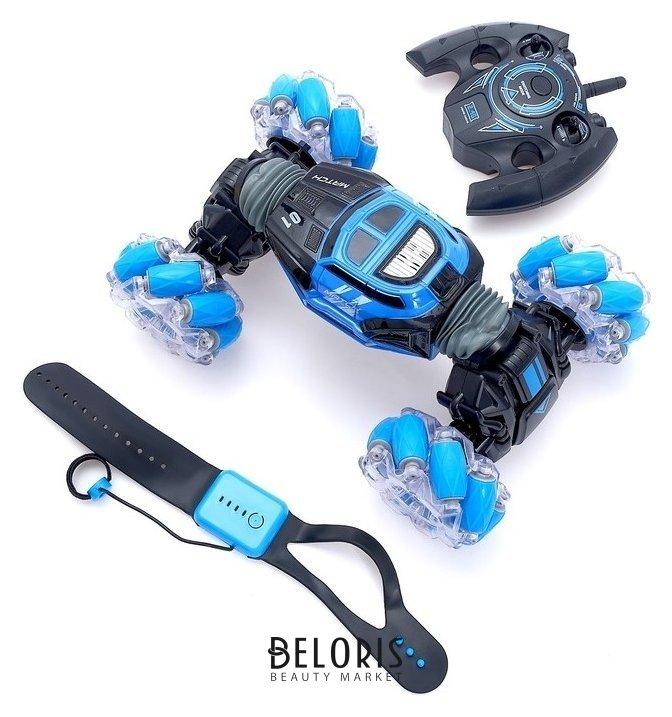 Машинка-перевёртыш Hyper Skidding с управлением жестами, цвет синий NNB