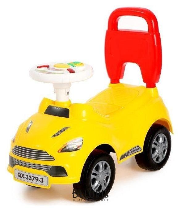 Толокар «Суперкар», световые и звуковые эффекты, цвет жёлтый Qunxing Toys