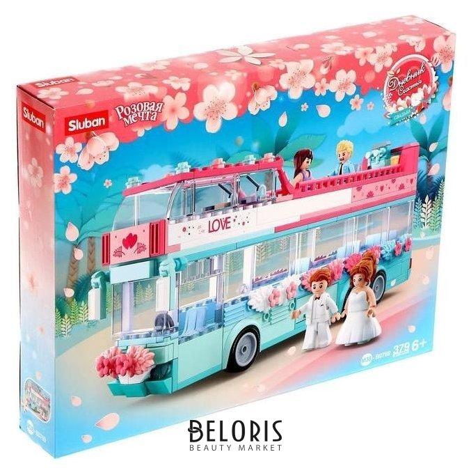 Конструктор розовая мечта «Свадебный автобус», 379 деталей Sluban