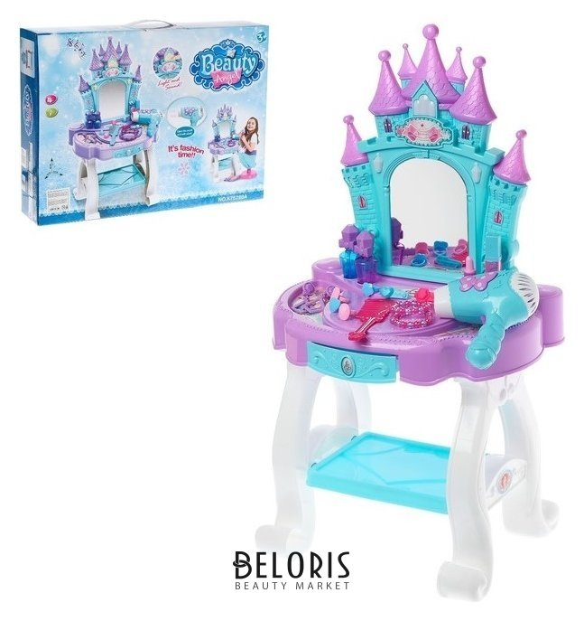 Игровой набор-трюмо «Маленькая принцесса» с аксессуарами, со световыми и звуковыми эффектами NNB