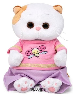 Мягкая игрушка «Ли-ли Baby», в футболке с божьей коровкой, 20 см Басик и Ко