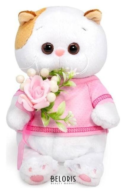 Мягкая игрушка «Ли-ли Baby», с букетом из ягод, 20 см Басик и Ко
