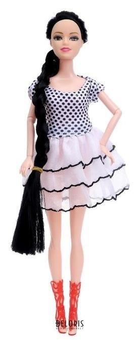 Кукла модель шарнирная Катя в платье NNB