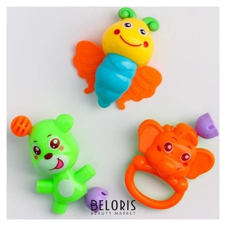 Набор погремушек «Давай играть», 3 игрушки Крошка Я
