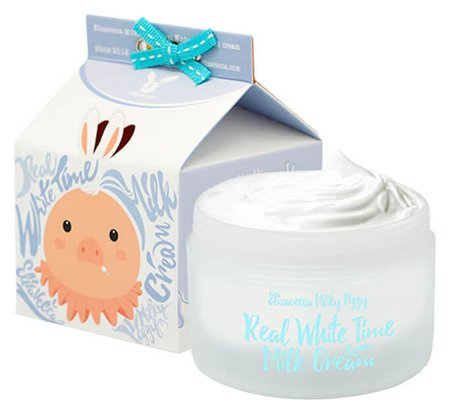 "Осветляющий крем для лица и тела с козьим молоком ""Real White Time Milk Cream""  Elizavecca"