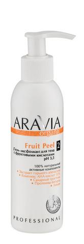 Гель-эксфолиант для тела с фруктовыми кислотами Fruit Pee  Aravia Professional