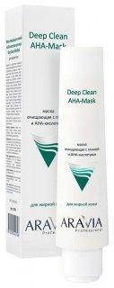 Маска очищающая для лица с глиной и АНА-кислотами Aravia Professional