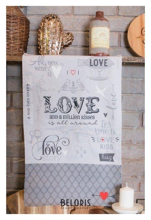 Полотенце Этель Love 40х67 см, 100% хл, саржа 190 гр/м2 Этель