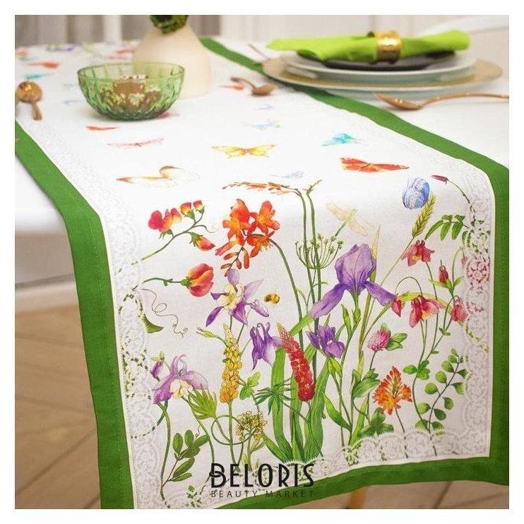 Дорожка на стол «Луговые цветы» 40*146 см Этель