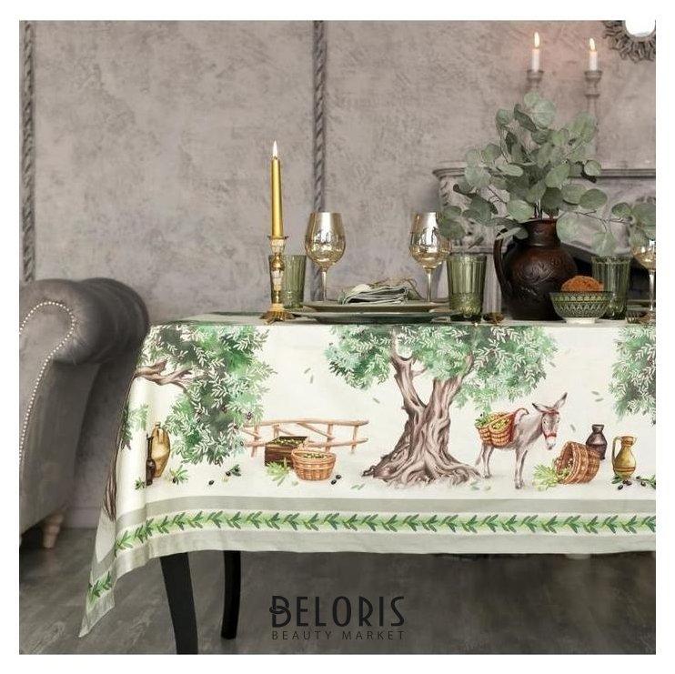 Набор столовый этель Olivia, скатерть 220х150 см, салфетки 40х40 см-12шт, 100% хл Этель