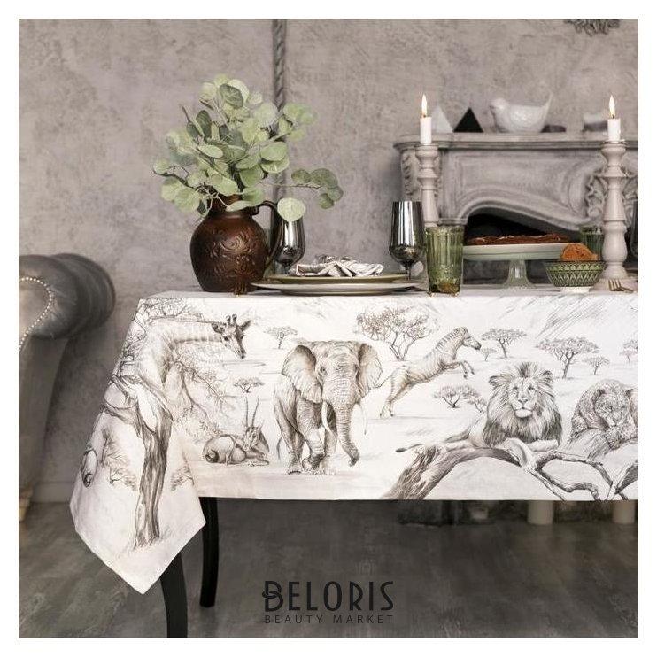 Набор столовый этель «Сафари», скатерть 110х150 см, салф. 40х40 см-4шт, 100% хл Этель