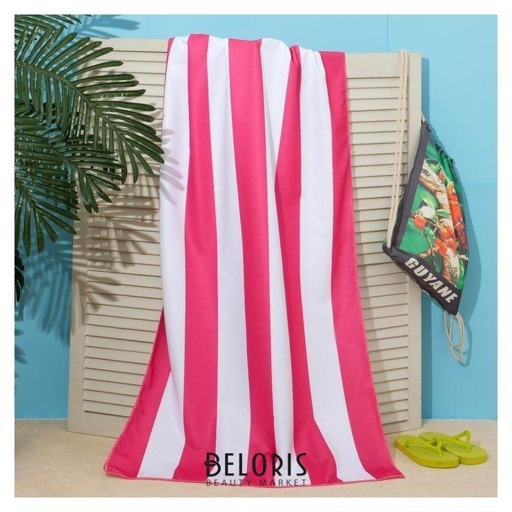 Полотенце пляжное в сумке этель Попугаи, 70*140 см, микрофибра, 100% п/э Этель