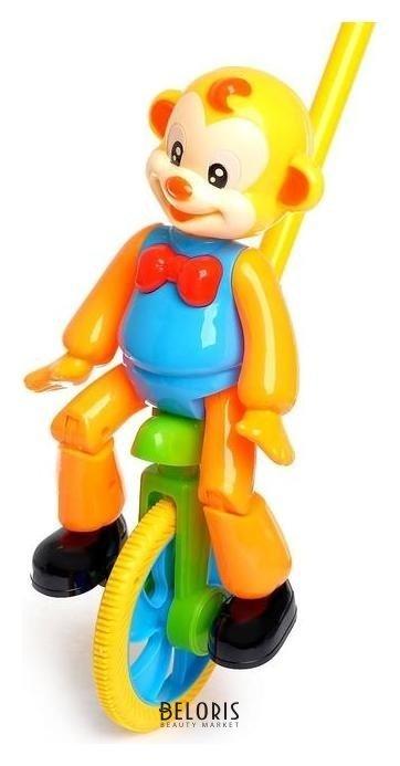 Каталка на палочке «Цирковая обезьянка» NNB