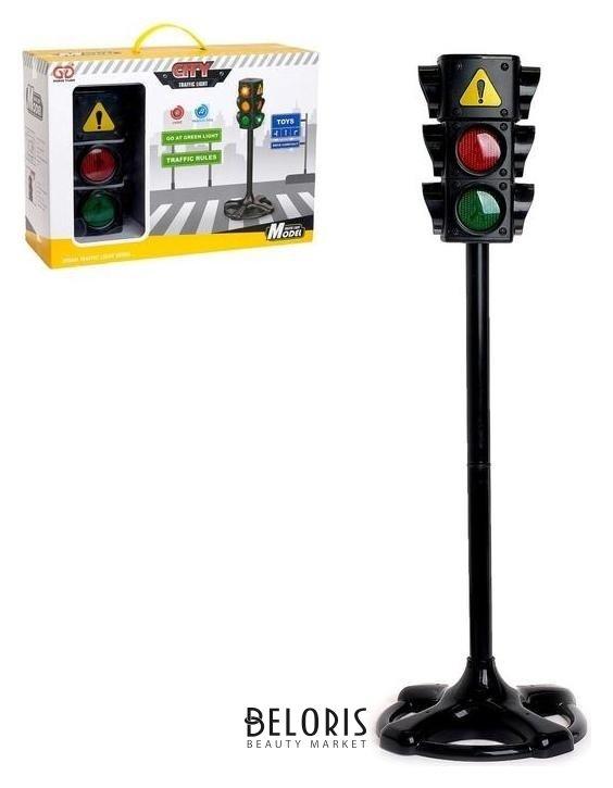 Светофор «Главная дорога», высота 75 см, световые и звуковые эффекты NNB