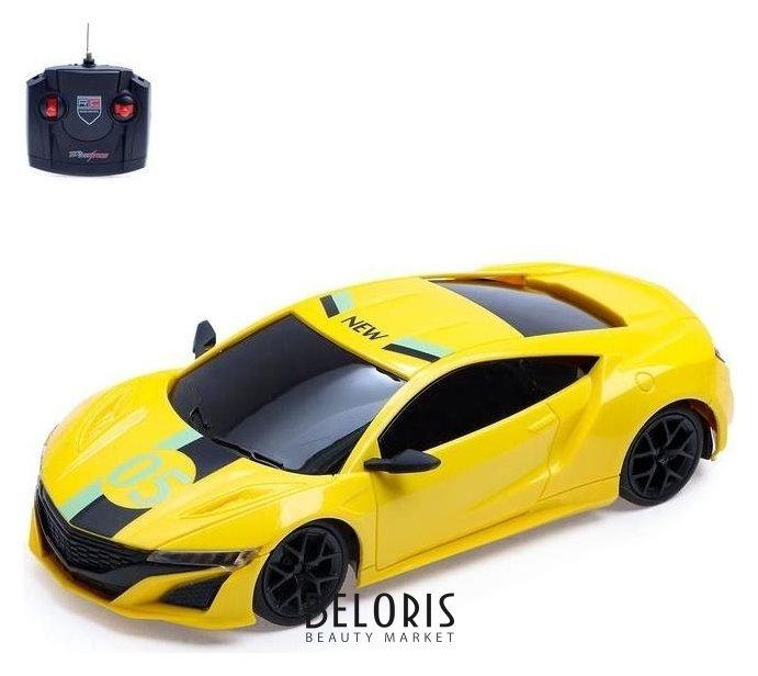 Машина радиоуправляемая «Купе», работает от аккумулятора, цвет жёлтый NNB