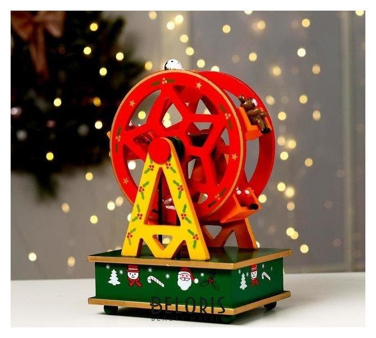 Новогодний сувенир «Колесо обозрения» 14×10×21 см Лесная мастерская