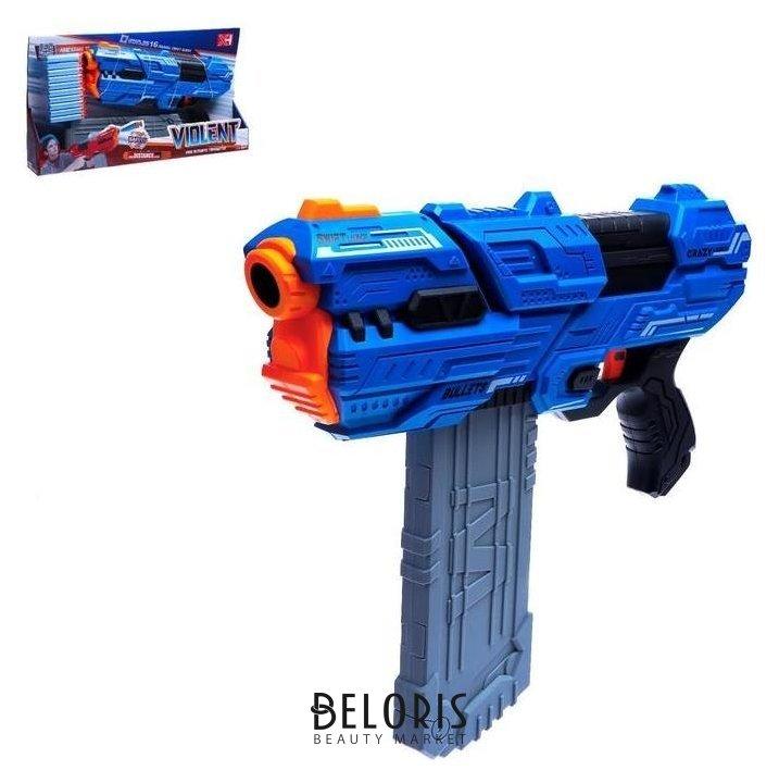 Бластер Violent, стреляет мягкими пулями, цвет синий NNB